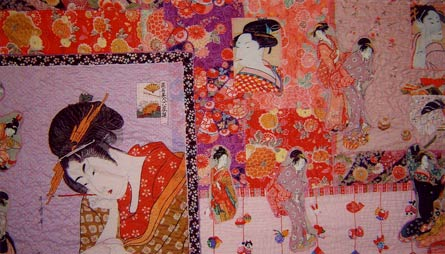 Japanese figures wallhanging